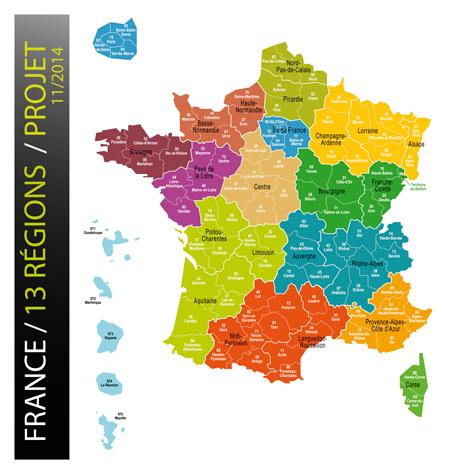 Télécharger Carte Des 13 Régions De France Réforme